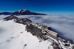 """Bühnenbild """"Die Schweiz - ein Winterwunderland"""""""