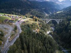 """Vorschaubild für Stock Bild """"img-20151003-144939-airview-langwieser-viadukt-00047"""""""