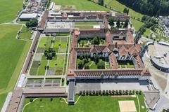 """Vorschaubild für Stock Bild """"img-20140801-130844-aerialstock-kloster-einsiedeln-00003"""""""