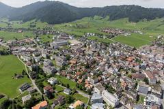 """Vorschaubild für Stock Bild """"img-20140801-131127-aerialstock-kloster-einsiedeln-00006"""""""