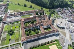 """Vorschaubild für Stock Bild """"img-20140801-130803-aerialstock-kloster-einsiedeln-00002"""""""