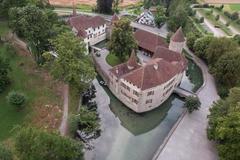 """Vorschaubild für Stock Bild """"img-20140719-200859-aerialstock-schloss-hallwyl-00006"""""""
