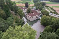 """Vorschaubild für Stock Bild """"img-20140719-200836-aerialstock-schloss-hallwyl-00005"""""""