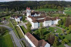 """Vorschaubild für Stock Bild """"img-20140424-173725-aerialstock-kloster-st-urban-00001"""""""