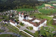 """Vorschaubild für Stock Bild """"img-20140424-173810-aerialstock-kloster-st-urban-00007"""""""