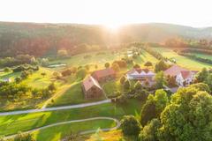 """Vorschaubild für Stock Bild """"img-20180607-203202-aerialstock-golfplatz-kyburg-winterthur-00036"""""""