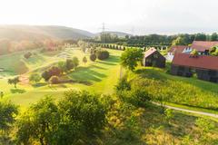 """Vorschaubild für Stock Bild """"img-20180607-201742-aerialstock-golfplatz-kyburg-winterthur-00003"""""""