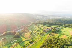 """Vorschaubild für Stock Bild """"img-20180607-202654-aerialstock-golfplatz-kyburg-winterthur-00025"""""""