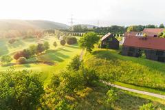 """Vorschaubild für Stock Bild """"img-20180607-201803-aerialstock-golfplatz-kyburg-winterthur-00005"""""""