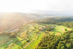 """Vorschaubild für Stock Bild """"img-20180607-202646-aerialstock-golfplatz-kyburg-winterthur-00024"""""""