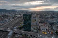 """Vorschaubild für Stock Projekt """"Prime Tower im Sonnenuntergang - Zürich"""""""