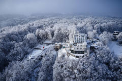 """Vorschaubild für Stock Projekt """"Hotel Château Gütsch Luzern im Winter"""""""